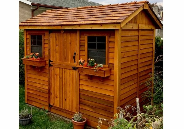 Outdoor Living Today 9x6 Cabana Storage Shed with Dutch Door on Outdoor Living Today Cabana id=95167