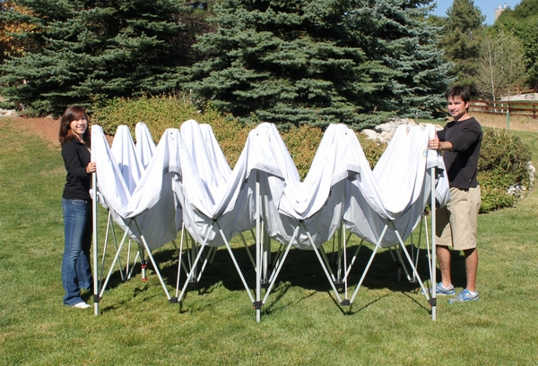 Undercover 10 X 20 Professional Grade Aluminum Popup Shade Package With White Top
