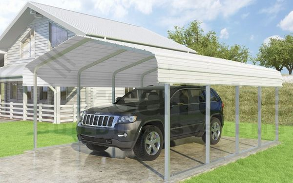 Versatube 12 X 20 Classic Carport Kit With 1 Height Extension