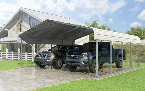 Versatube 24 X 20 Classic Carport Kit With 3 Height Extension